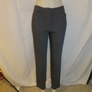 EILEEN FISHER GRAY FLAT FRONT STRETCH PANT PS/8